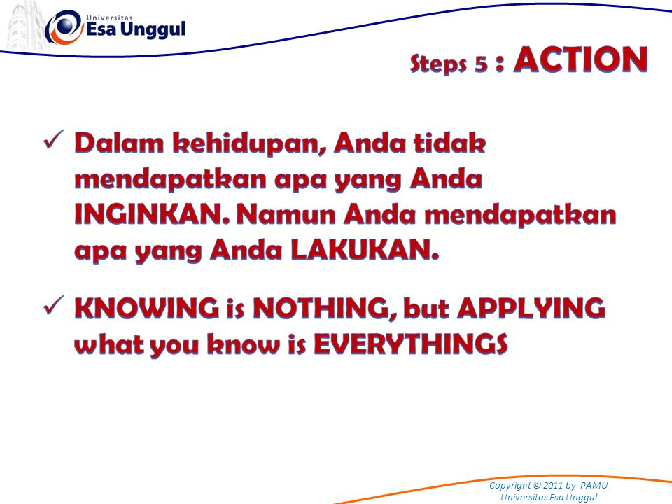 KNOWING is NOTHING, but APPLYING what you know is EVERYTHINGS