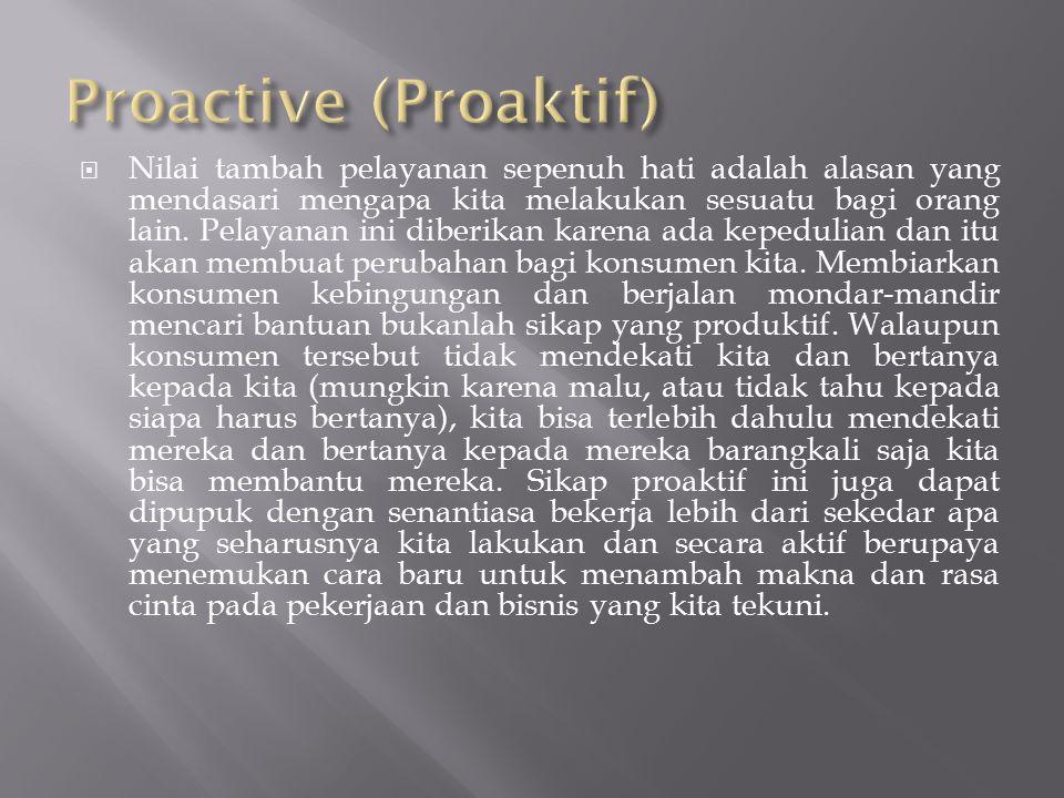 Proactive (Proaktif)