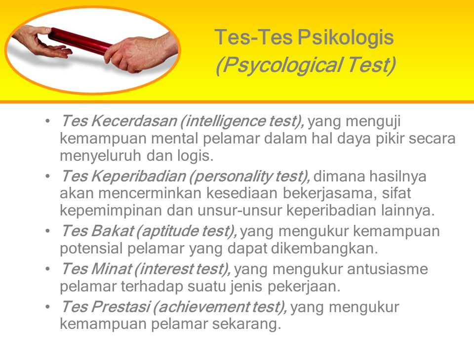 Tes-Tes Psikologis (Psycological Test)