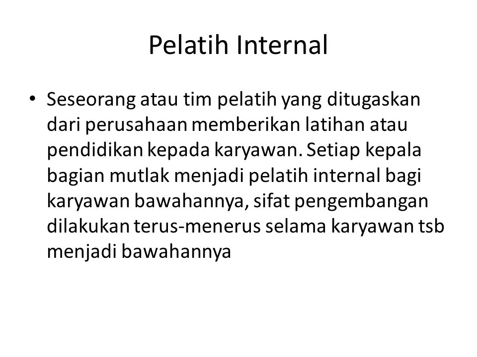 Pelatih Internal