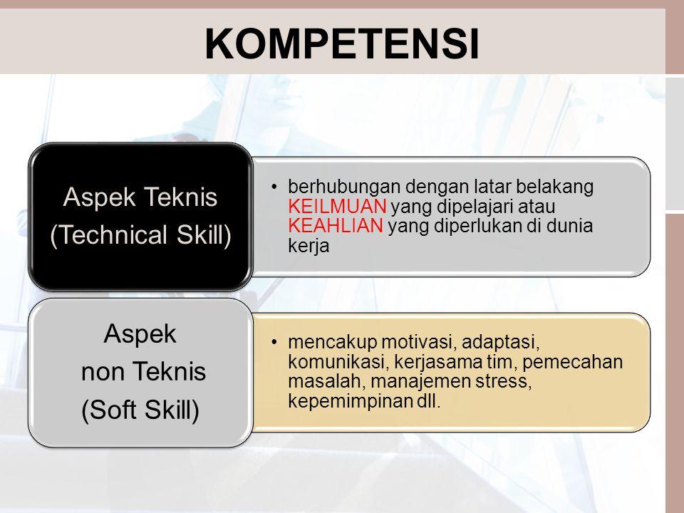 KOMPETENSI Aspek Teknis (Technical Skill) Aspek non Teknis