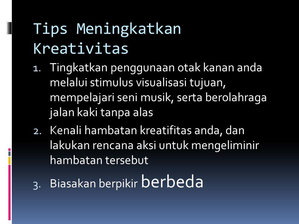 Tips Meningkatkan Kreativitas