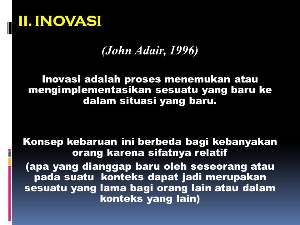 II. INOVASI (John Adair, 1996)