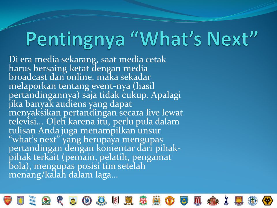 Pentingnya What's Next