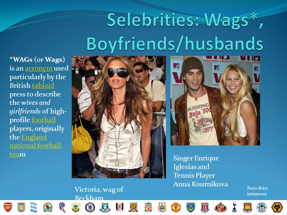 Selebrities: Wags*, Boyfriends/husbands