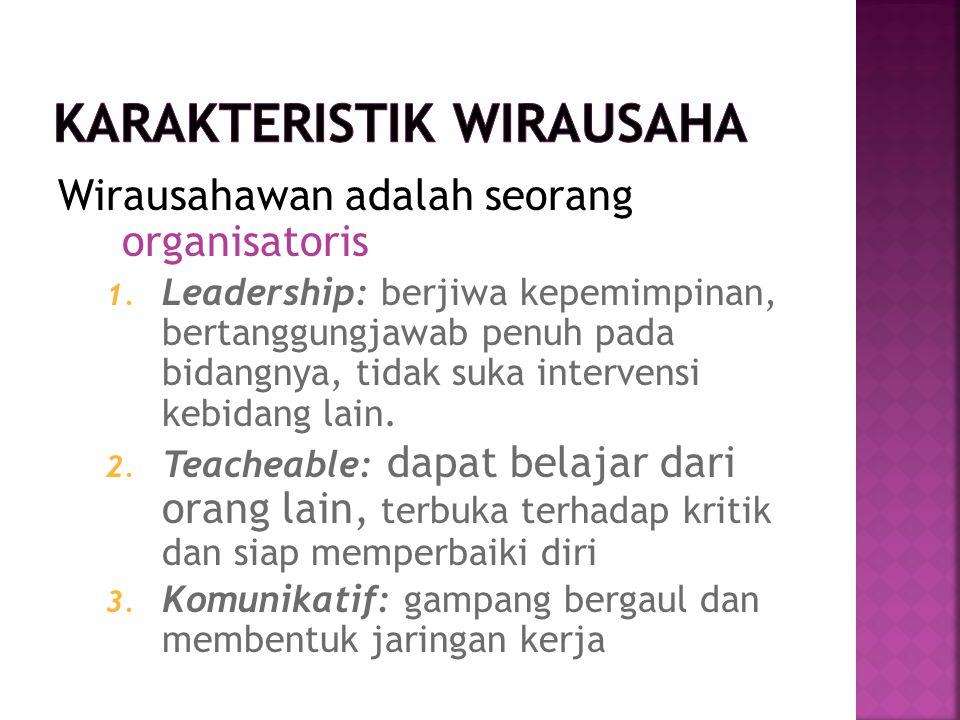 KARAKTERISTIK WIRAUSAHA
