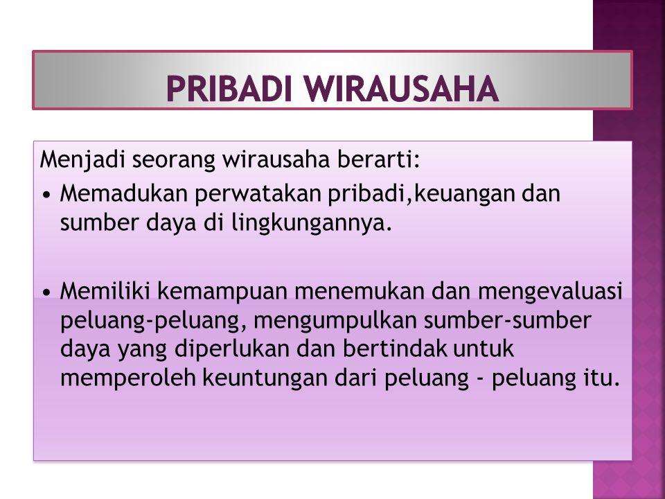 PRIBADI WIRAUSAHA