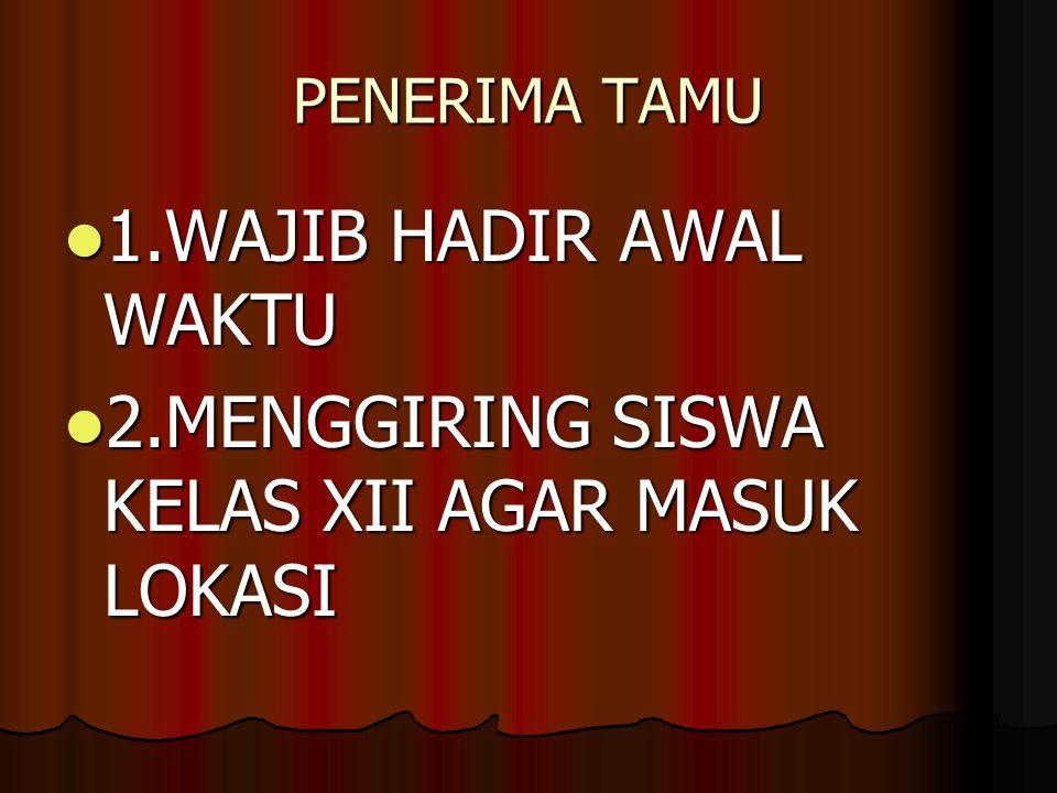 2.MENGGIRING SISWA KELAS XII AGAR MASUK LOKASI