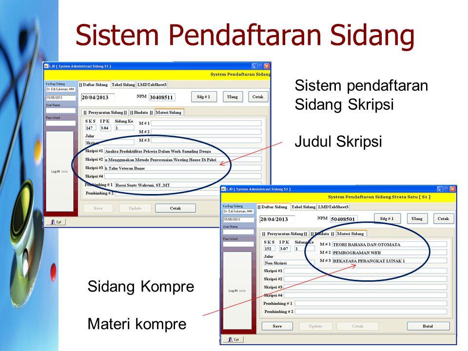Sistem Pendaftaran Sidang