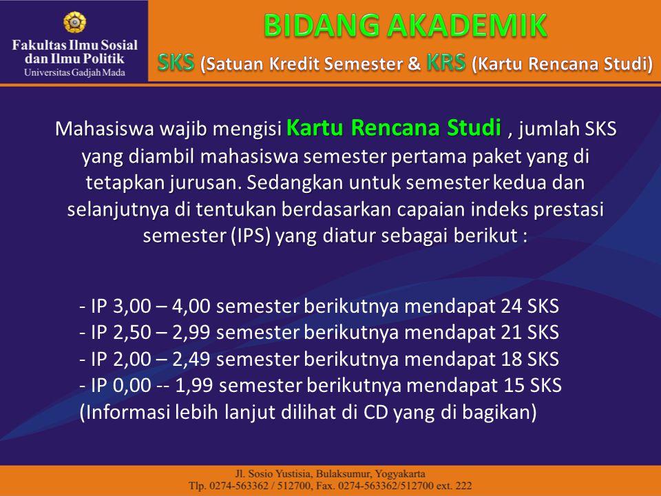 SKS (Satuan Kredit Semester & KRS (Kartu Rencana Studi)