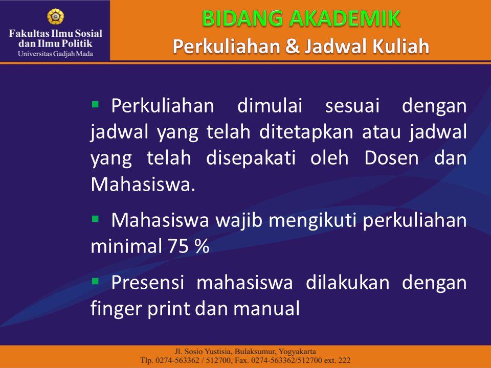 Perkuliahan & Jadwal Kuliah