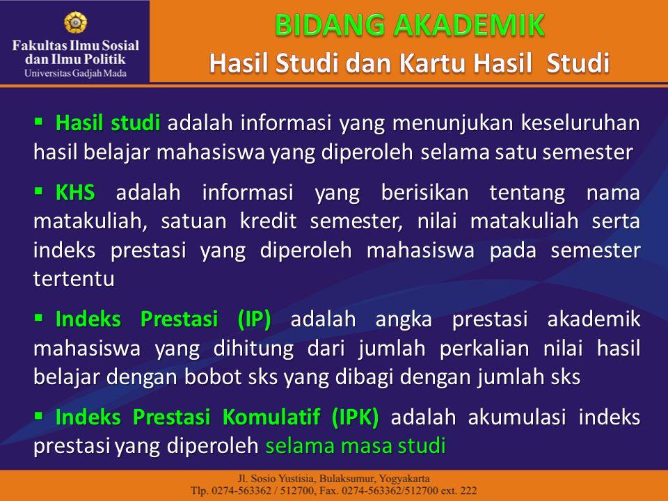 Hasil Studi dan Kartu Hasil Studi