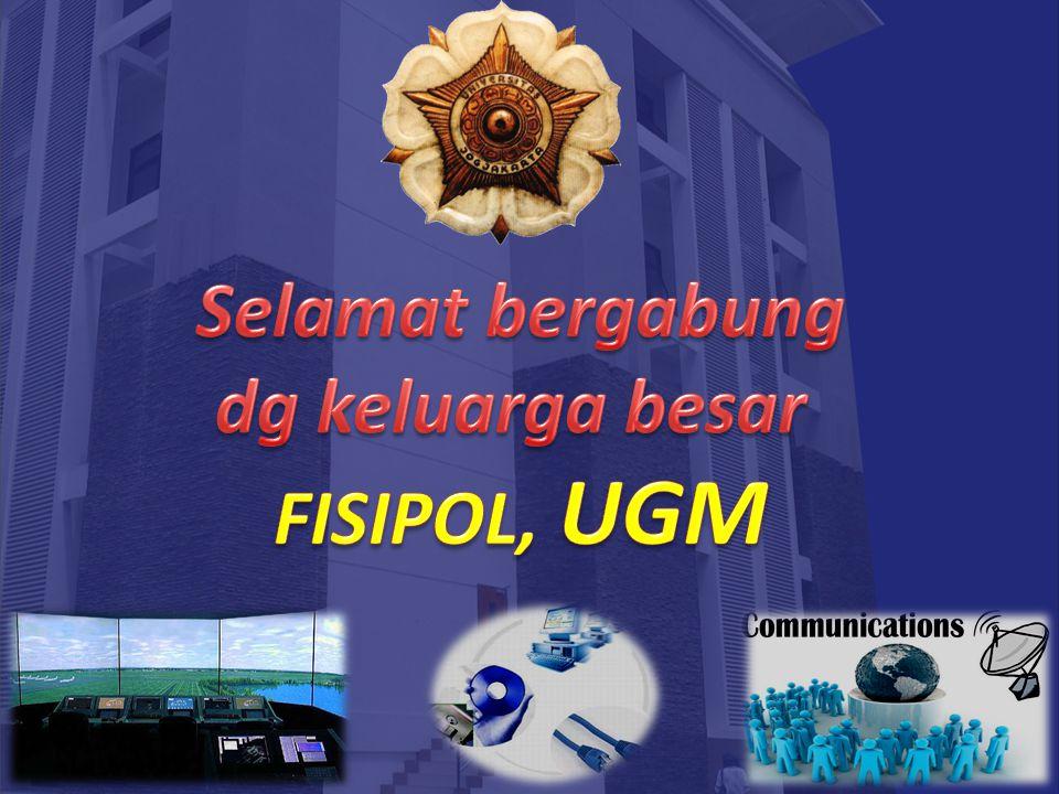 Selamat bergabung dg keluarga besar FISIPOL, UGM