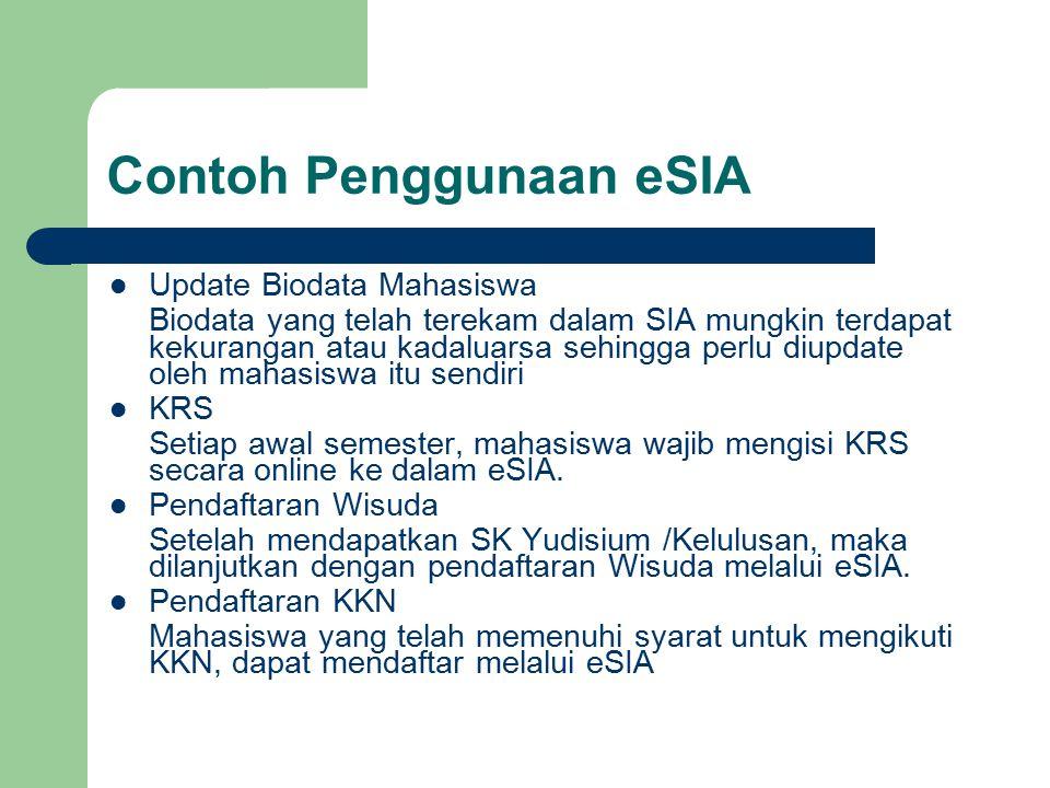 Contoh Penggunaan eSIA
