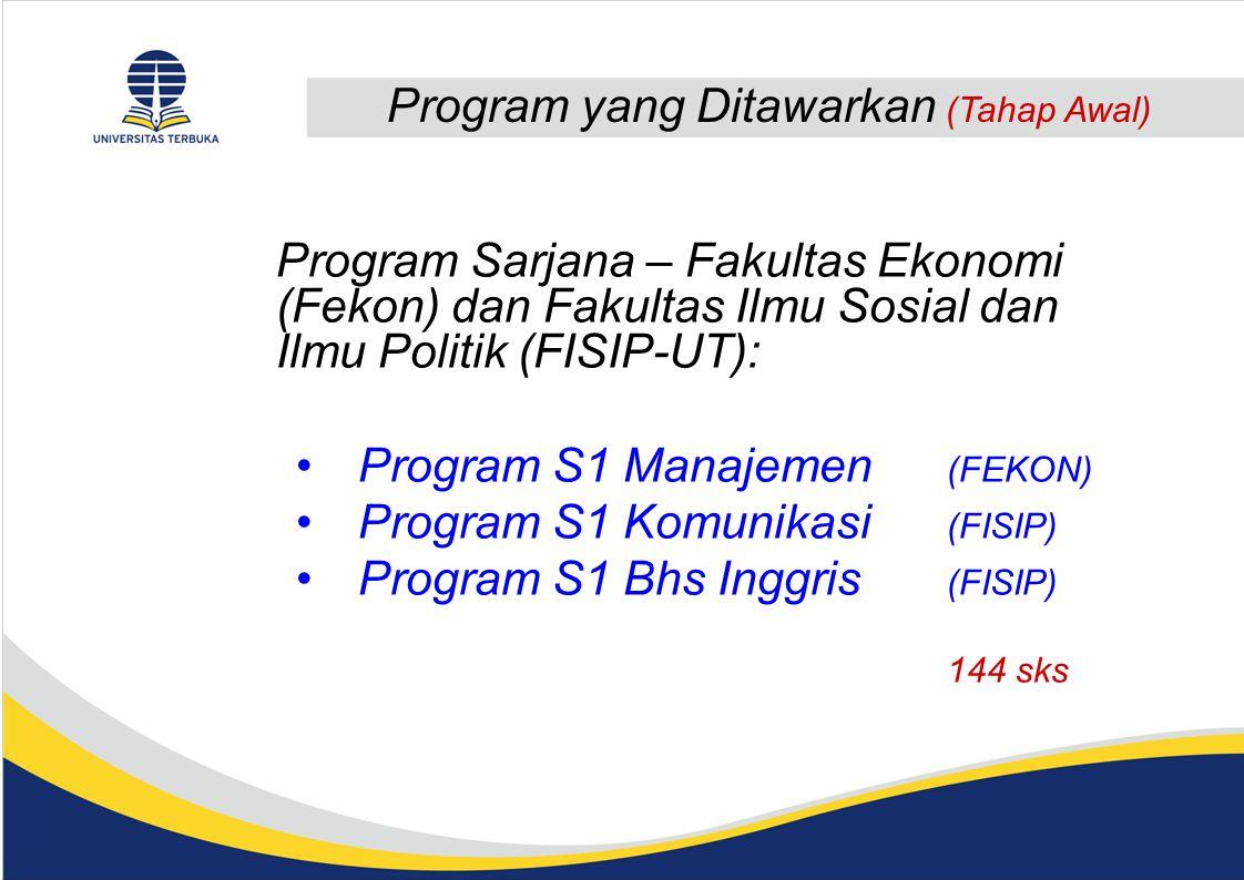 Program yang Ditawarkan (Tahap Awal)