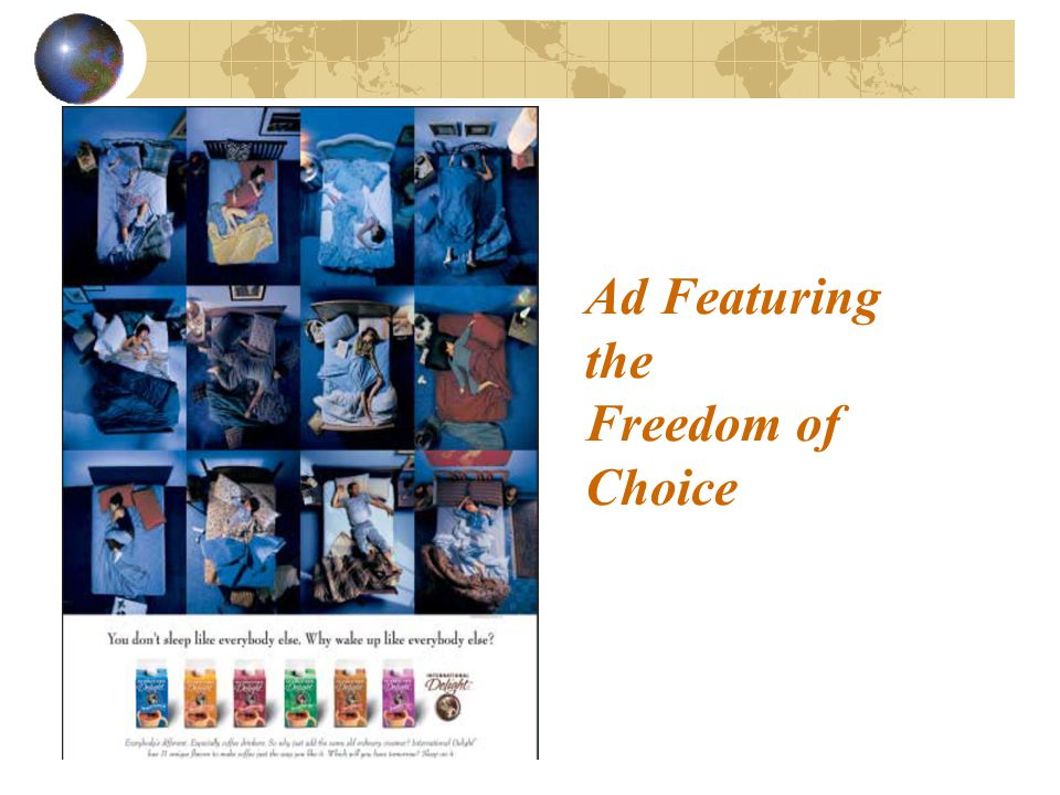 Ad Featuring the Freedom of Choice
