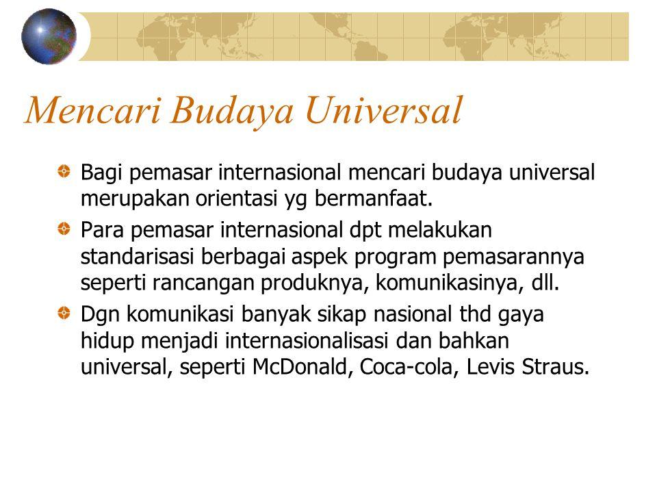 Mencari Budaya Universal