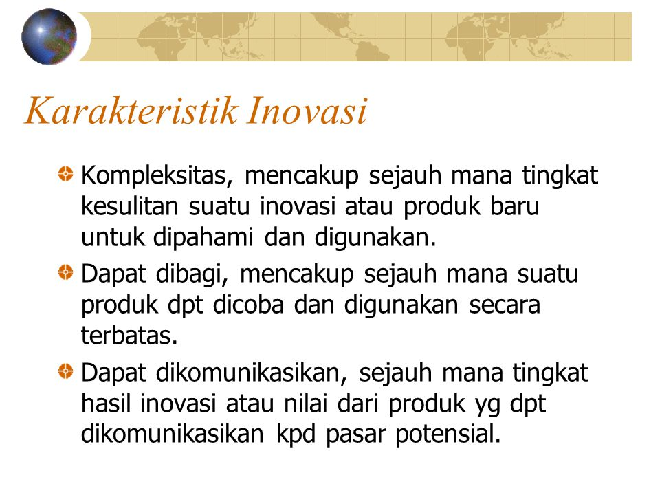 Karakteristik Inovasi