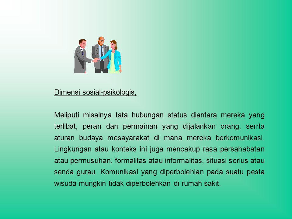 Dimensi sosial-psikologis,