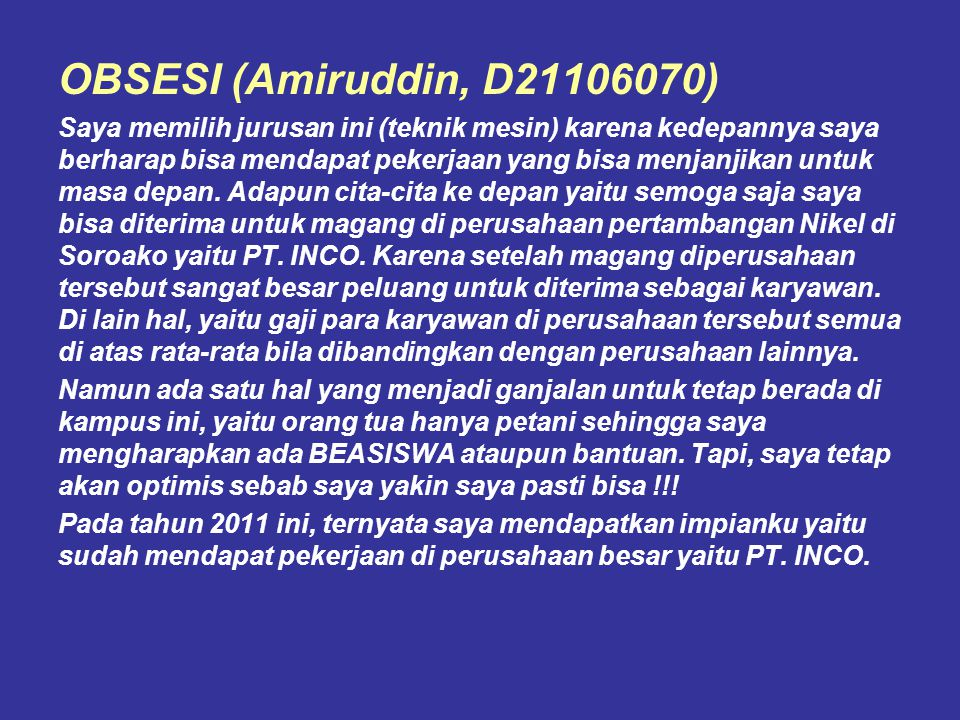 OBSESI (Amiruddin, D21106070)