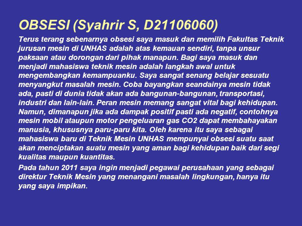 OBSESI (Syahrir S, D21106060)