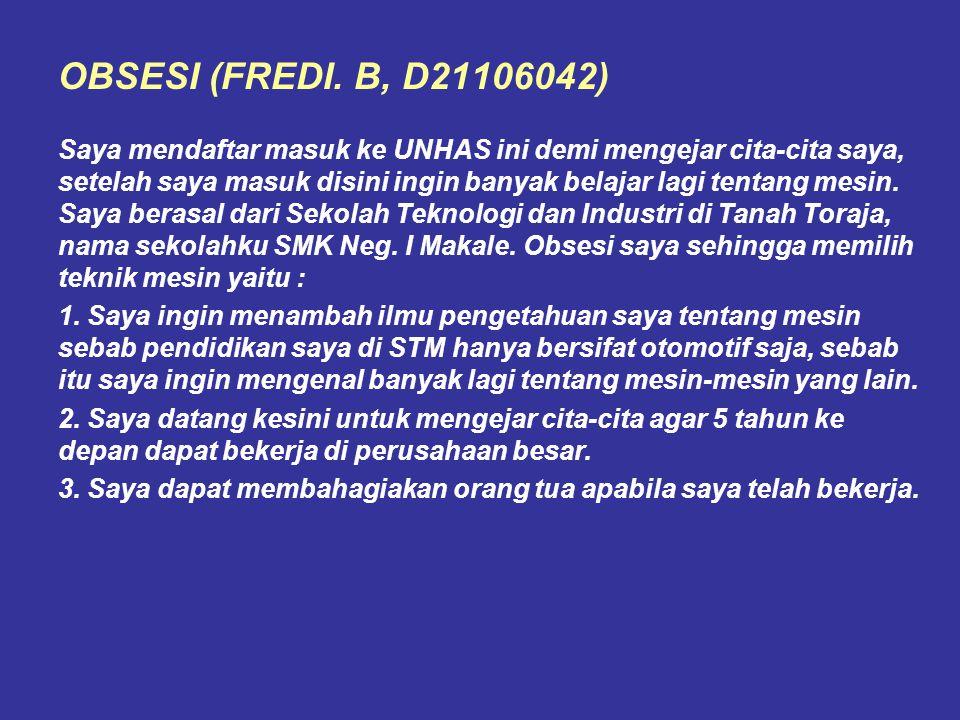 OBSESI (FREDI. B, D21106042)