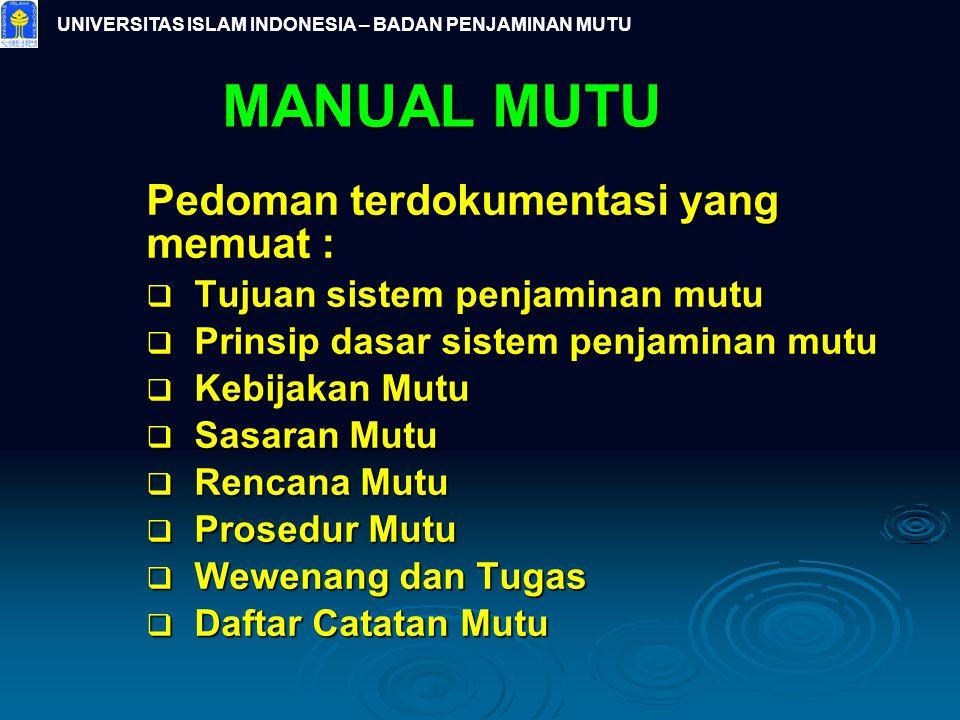 UNIVERSITAS ISLAM INDONESIA – BADAN PENJAMINAN MUTU