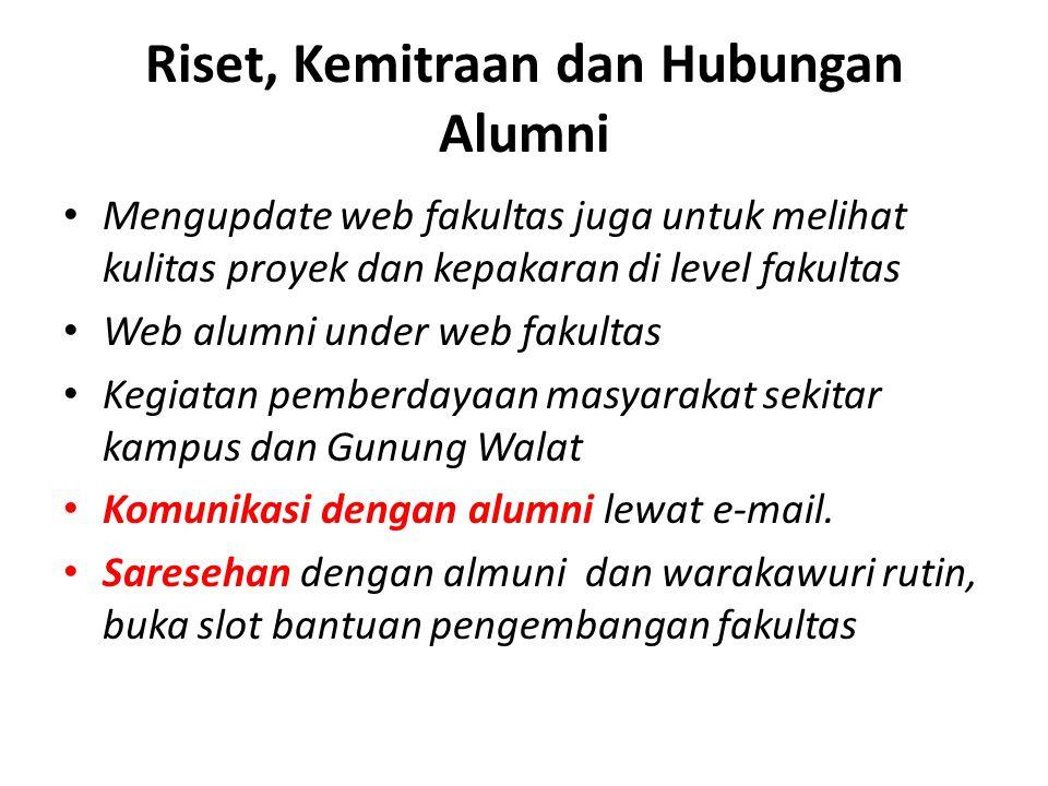Riset, Kemitraan dan Hubungan Alumni