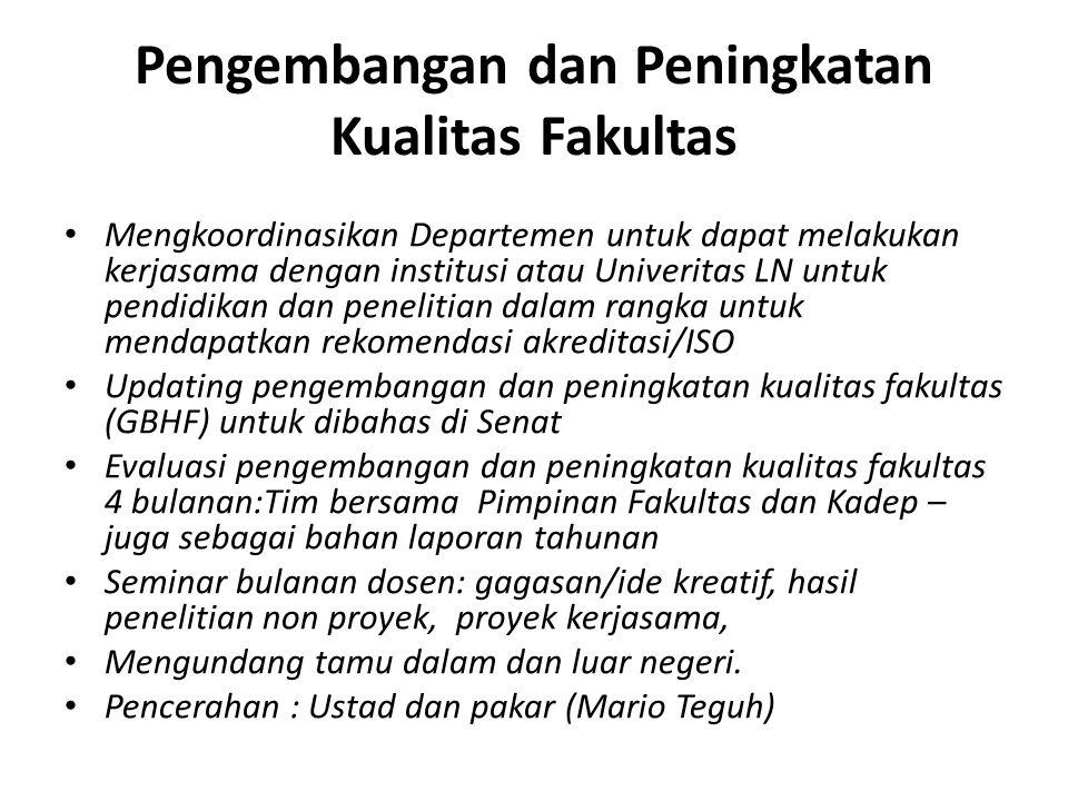 Pengembangan dan Peningkatan Kualitas Fakultas