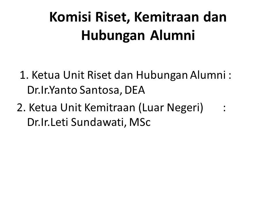 Komisi Riset, Kemitraan dan Hubungan Alumni