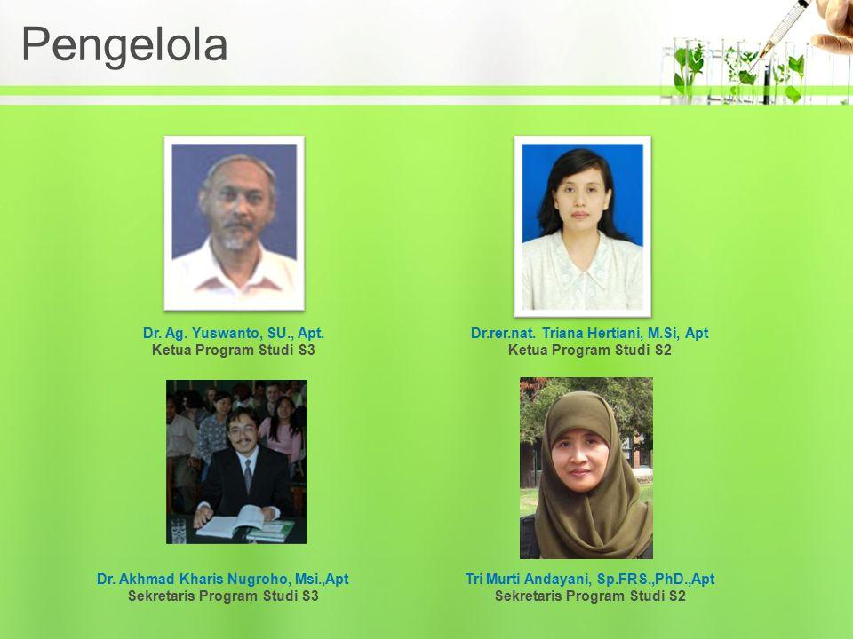 Pengelola Dr. Ag. Yuswanto, SU., Apt. Ketua Program Studi S3