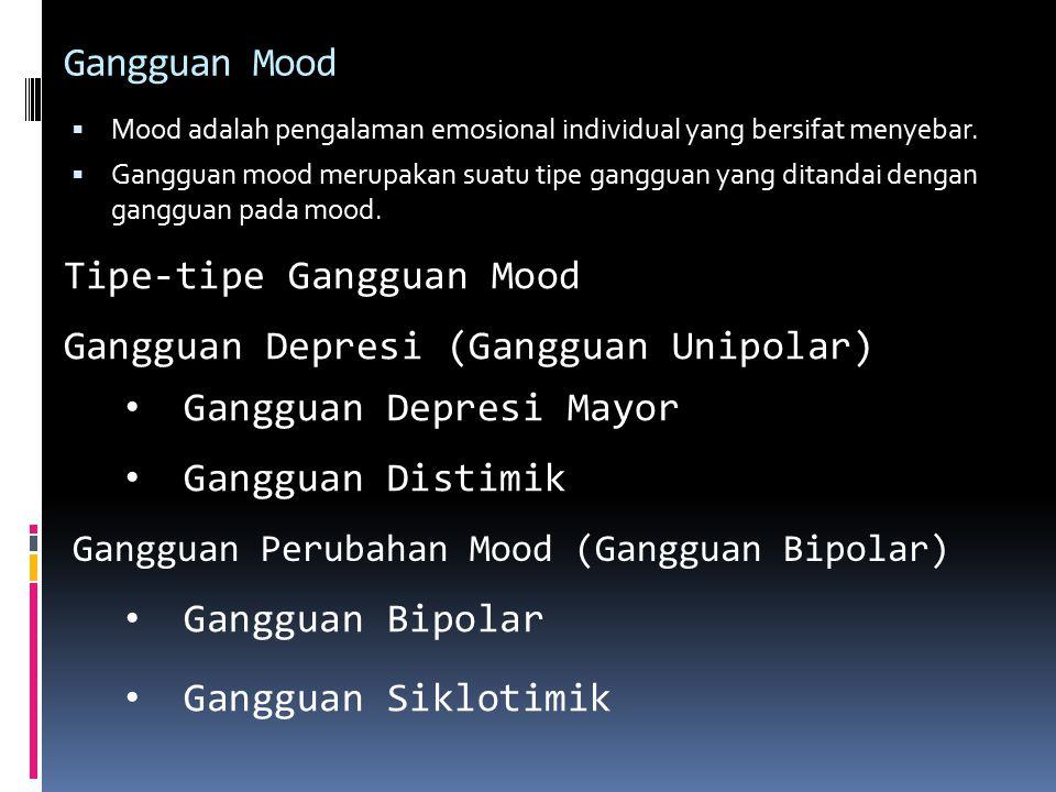 Tipe-tipe Gangguan Mood