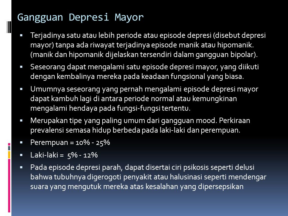Gangguan Depresi Mayor