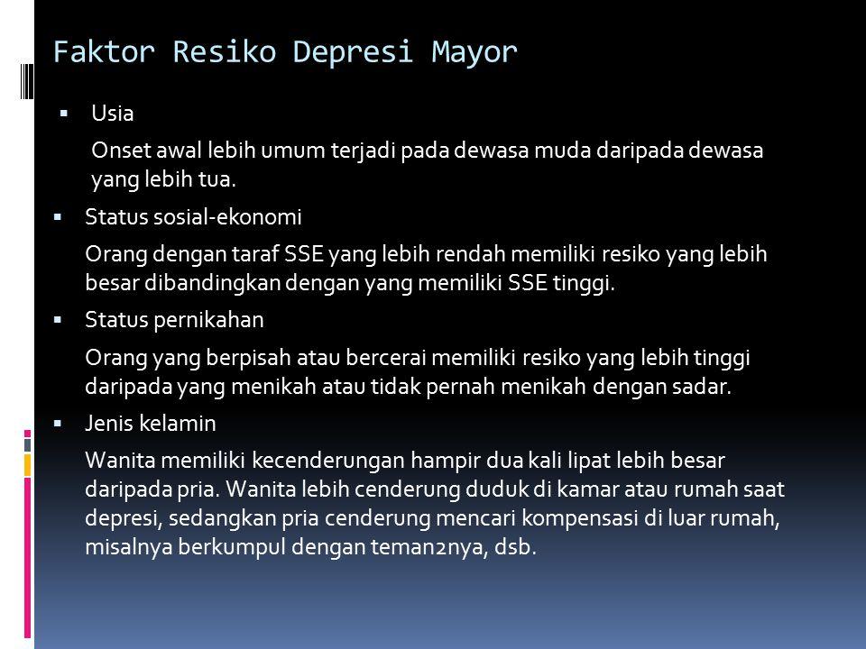 Faktor Resiko Depresi Mayor