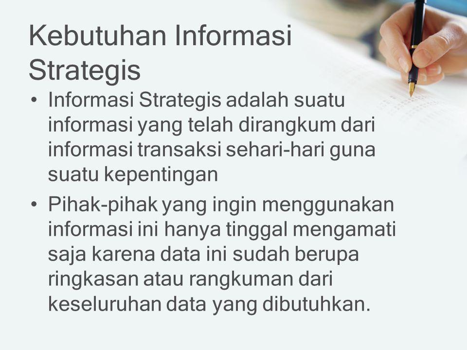Kebutuhan Informasi Strategis