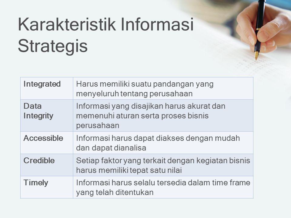 Karakteristik Informasi Strategis