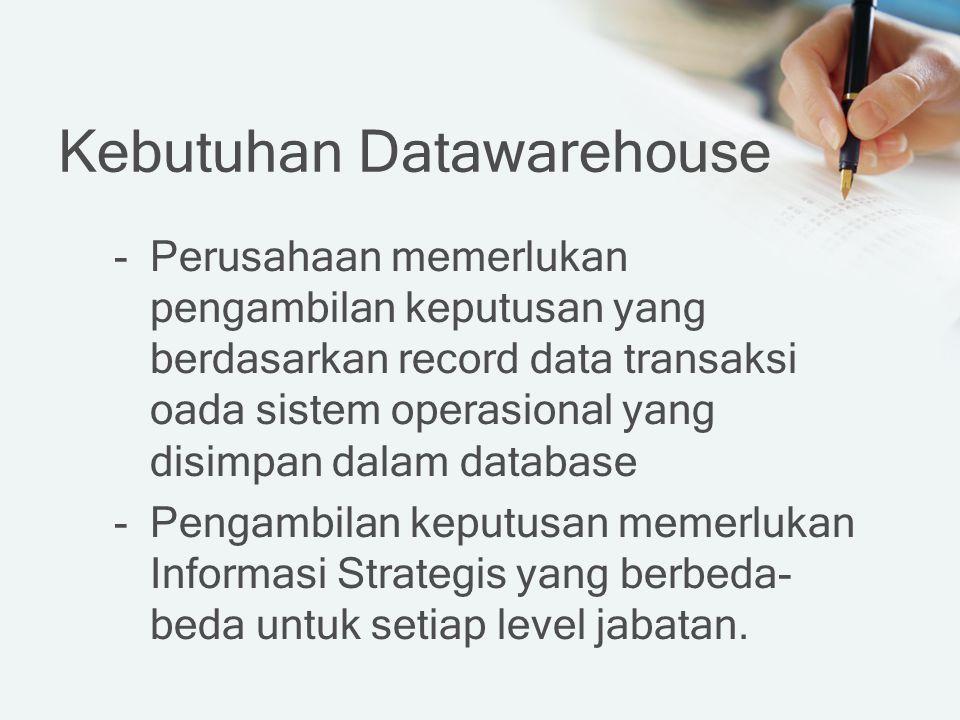 Kebutuhan Datawarehouse