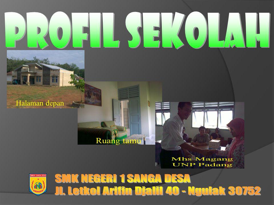 Profil Sekolah Halaman depan Ruang tamu Mhs Magang UNP Padang