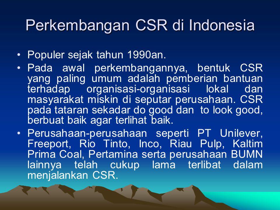 Perkembangan CSR di Indonesia