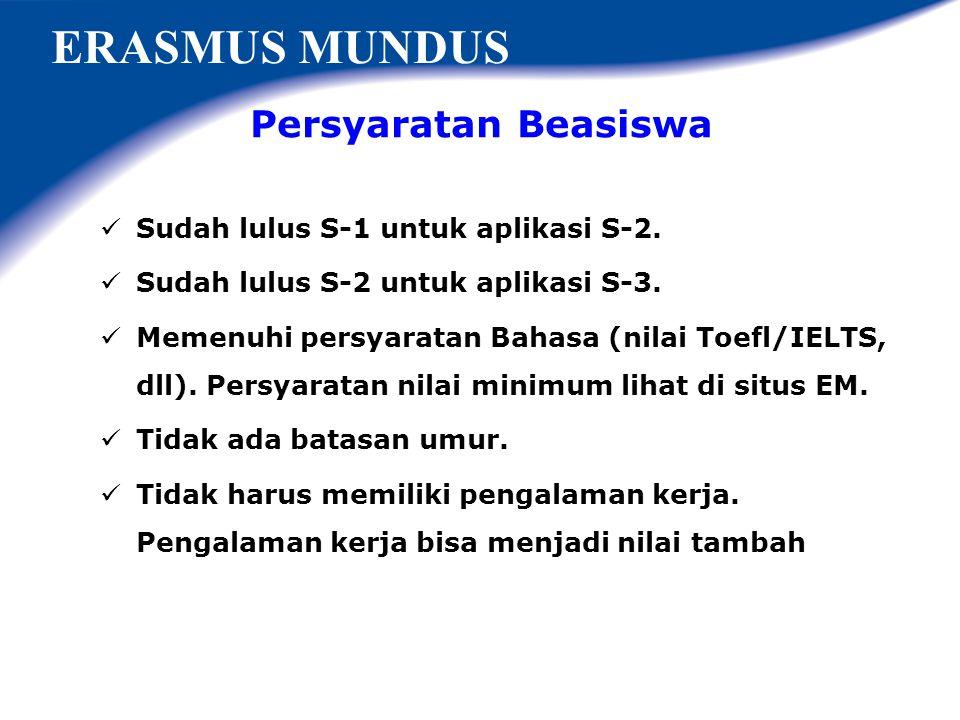 ERASMUS MUNDUS Persyaratan Beasiswa