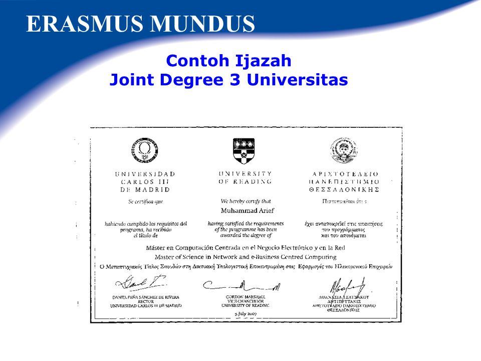Joint Degree 3 Universitas