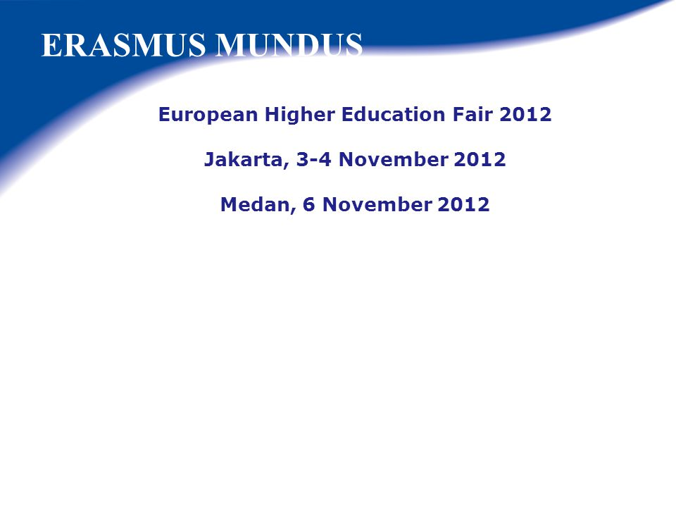 European Higher Education Fair 2012