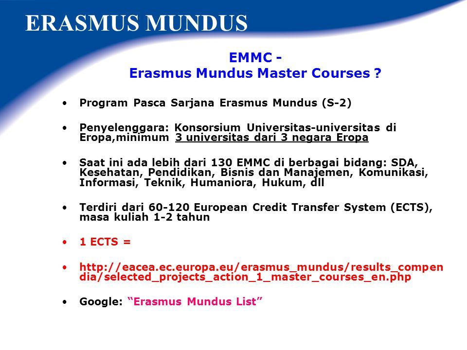 Erasmus Mundus Master Courses