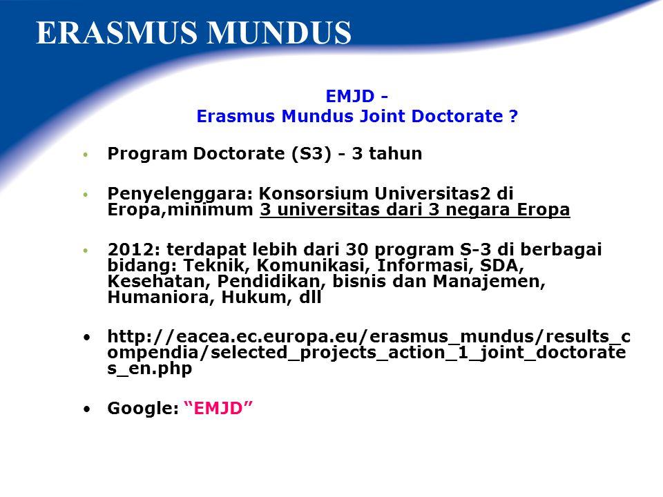 Erasmus Mundus Joint Doctorate