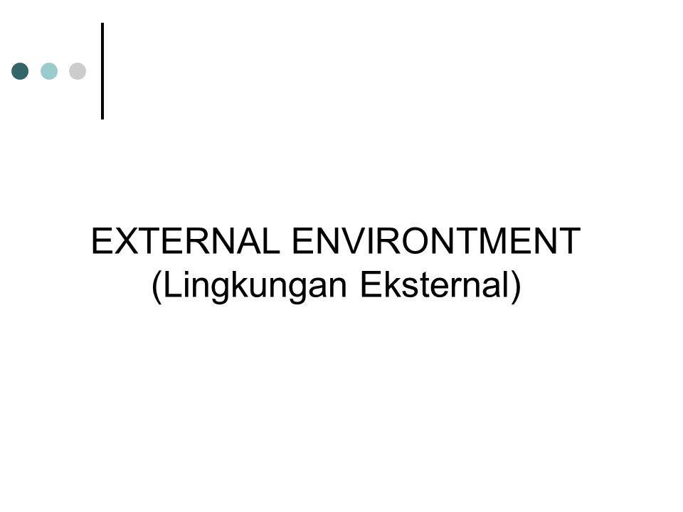 EXTERNAL ENVIRONTMENT (Lingkungan Eksternal)