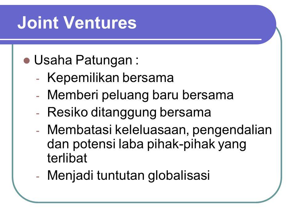 Joint Ventures Usaha Patungan : Kepemilikan bersama