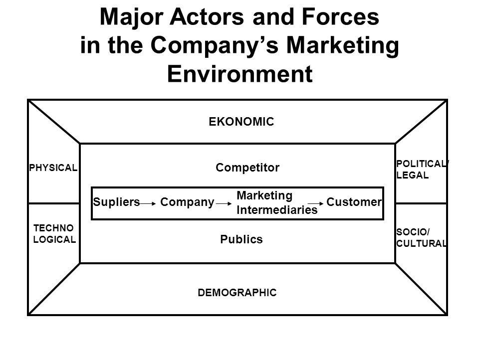 Major Actors and Forces in the Company's Marketing Environment