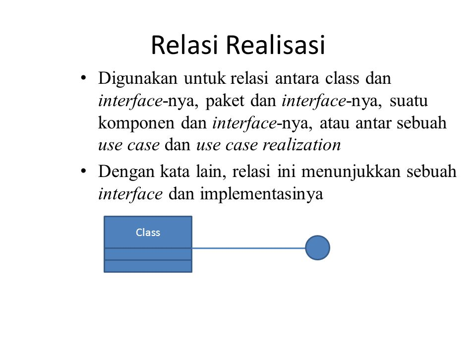 Relasi Realisasi