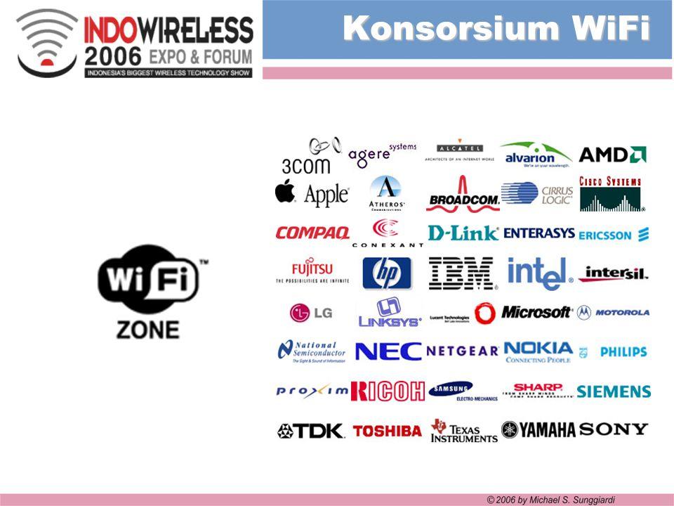 Konsorsium WiFi Beberapa perusahaan yang tergabung pada konsorsium WiFi