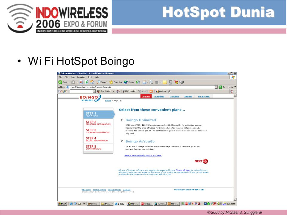 HotSpot Dunia Wi Fi HotSpot Boingo